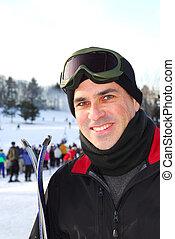 人, 滑雪
