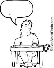 人, 漫画, 仕事, 机