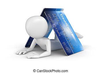 人, 由于, 信用卡