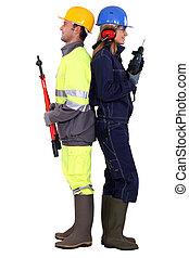 人, 由于, 螺栓, 刀具, 以及, 婦女, 由于, a, 操練