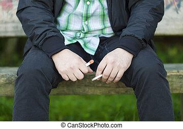 人, 由于, 香煙