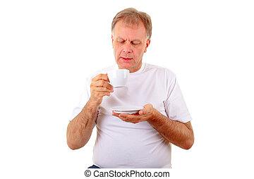 人, 由于, a, 杯咖啡