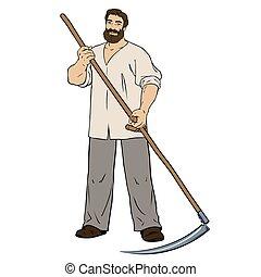 人, 男らしい, 芝刈り機