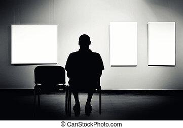 人, 画廊, モデル