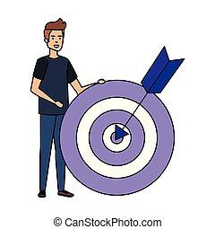 人, 目標, 箭, 暫存工