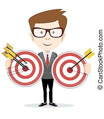 人, 目標, 箭, 藏品