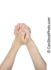人, 祈ること, アジア人, 手