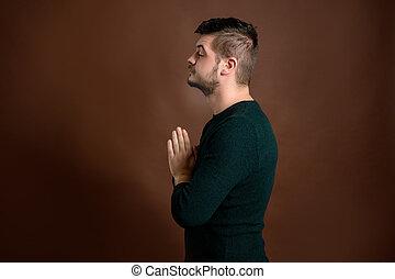 人, 祈ること, 若い