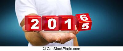 人, 祝う, 2016, 新年