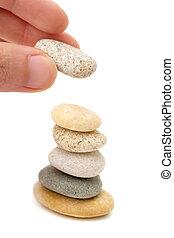 人, 積み重ね, pebbles.