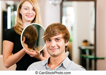 人, 美容師