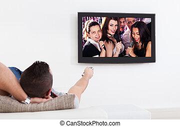 人, 聞くこと, へ, カラオケ, 上に, tv