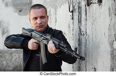 人, 自動, ライフル銃