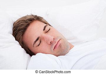 人, 若い, 睡眠