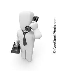 人, 話す, 電話