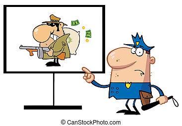 人, 警察, 強盗, 指すこと