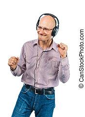 人, 跳舞, 頭戴收話器, whith
