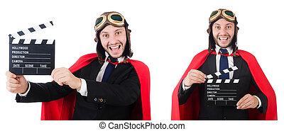 人, 身に着けていること, 赤, 衣類, 中に, 面白い, 概念