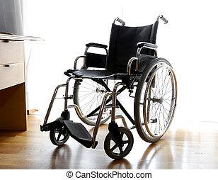 人, 車椅子, 寝室