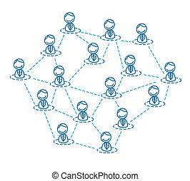 人, 连接, 商业组