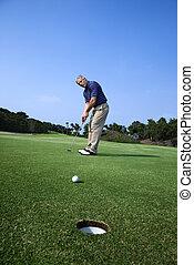人, 遊び, golf.