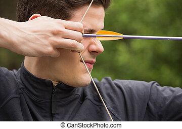 人, 集中, 射箭, 实践