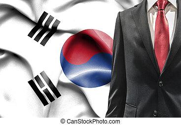 人, 韓国南, スーツ