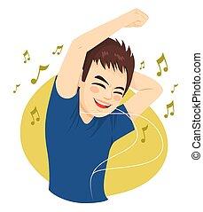 人, 音楽, ティーネージャー, 聞くこと, ダンス