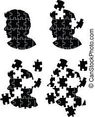 人, 頭, ジグソーパズル