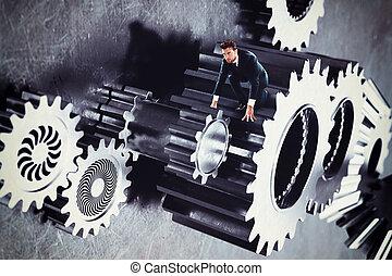 人, 齿轮, 系统