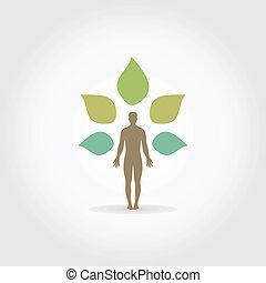 人, a, 植物
