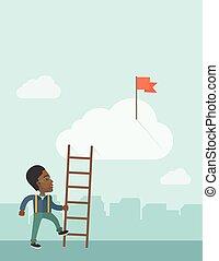 人, african, 職業, ladder.