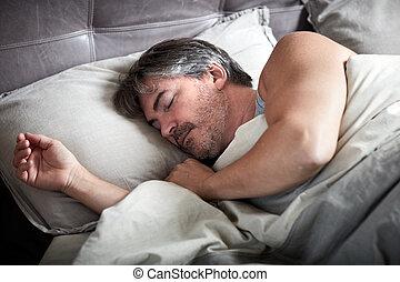 人, bed., 睡眠