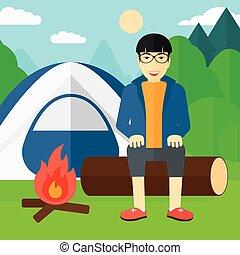 人, camp., モデル