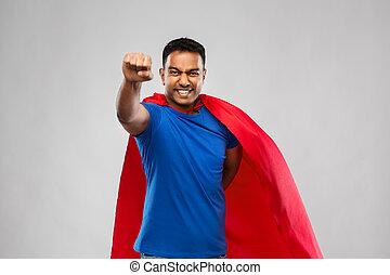 人, indian, 灰色, 上に, 飛行, superhero, 岬