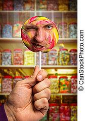 人, lollipop, 顔