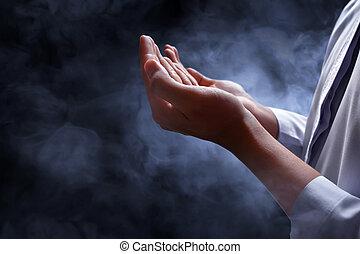 人, muslim, 祈ること