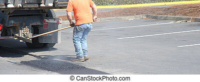 人, potholes., 修理