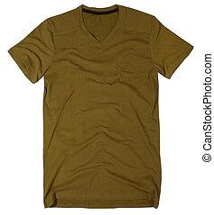 人, tシャツ, 隔離された, 白, バックグラウンド。