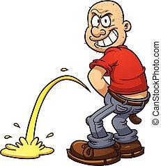 人, urinating