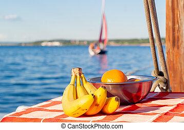 仍然, 海, 水果, 生活