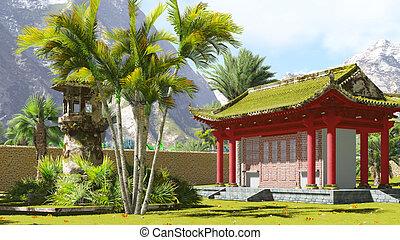 仏教, 神社, 山
