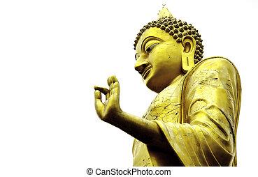 仏, 像, 中に, 祝福