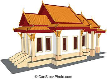 仏, 寺院, エメラルド