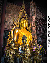 仏, 寺院, 像