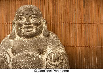 仏, 数字, 背景, 竹