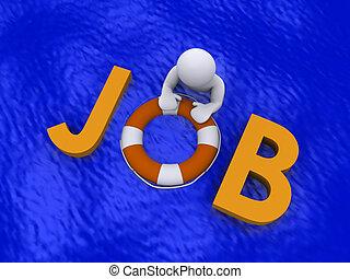 仕事を捜すこと, 中に, ∥, 海, の, 失業