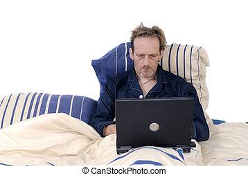 仕事中毒, 睡眠, laptop.