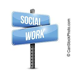 仕事, イラスト, 印, デザイン, 社会, 道