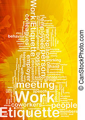 仕事, エチケット, 概念, 背景